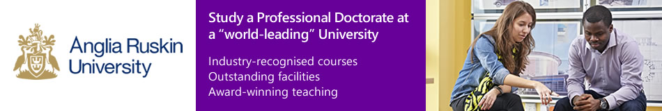 Anglia Ruskin University Featured Professional Doctorate Programmes